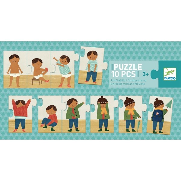 """DJECO Puzzle """"Ich zieh mich an"""""""