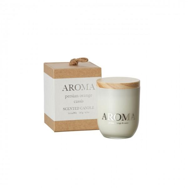 Kerze Aroma persian orange & cassis S