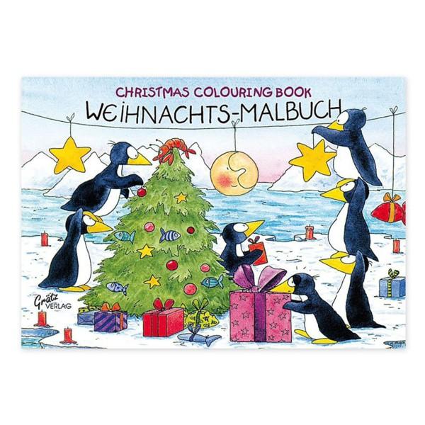 Weihnachtsmalbuch A6 Pinguin