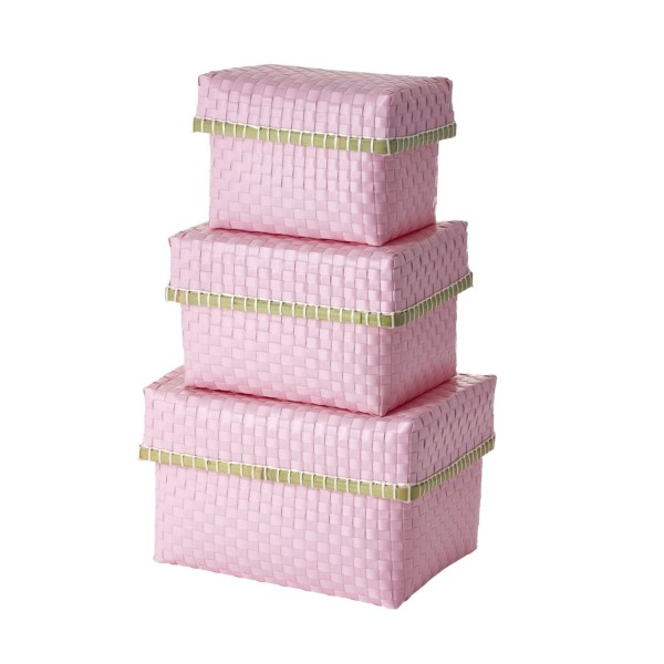 Aufbewahrungsbox 3er-Set rosa