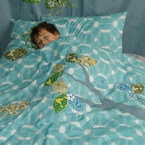 Bettwäsche Inke blau