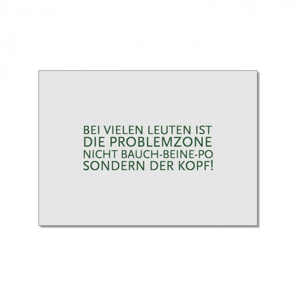 Postkarte quer, Problemzone