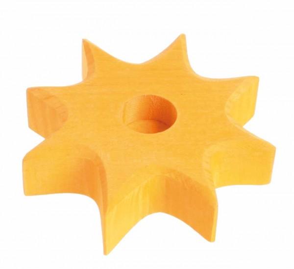 Geburtstagslicht Stern orange