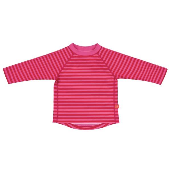 Long Sleeve Rashguard girls, 18 Mon, pink stripes