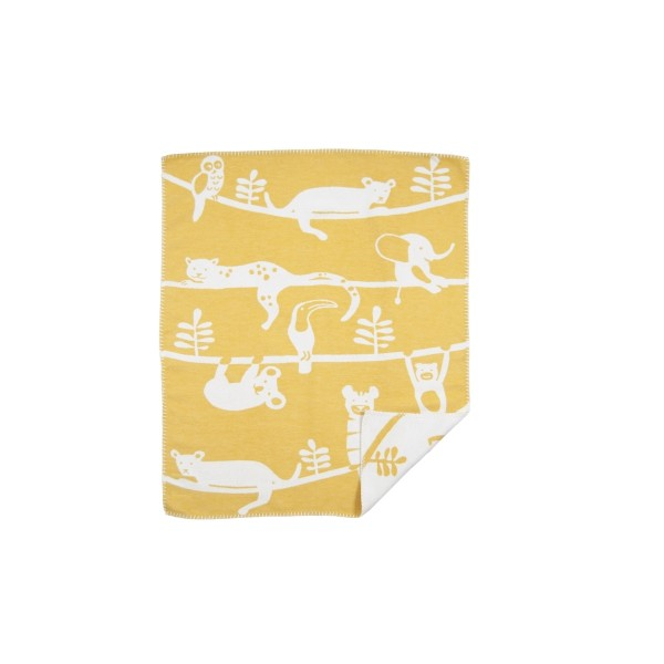 Baumwolldecke Siesta gelb