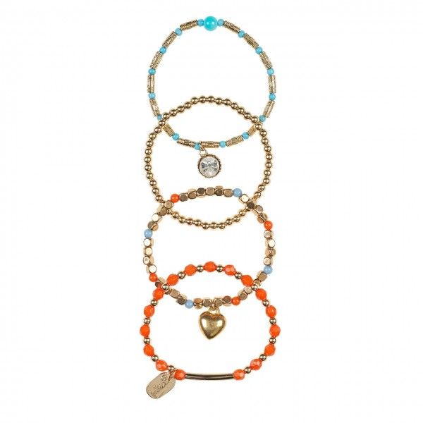 Armband Faith orange/gold