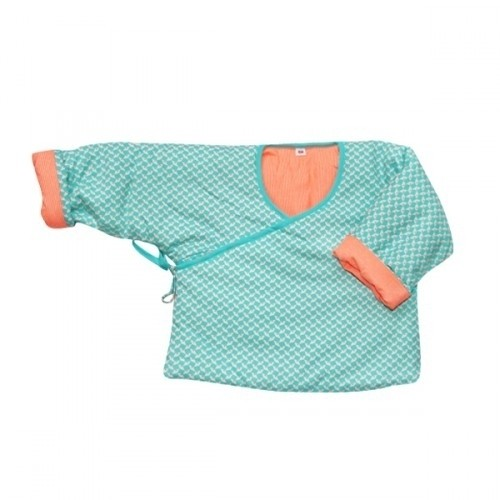 Petit pan Babyjacke, hellblau/orange