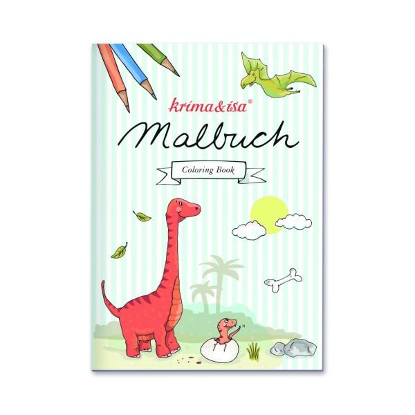 Malbuch Dinos A5