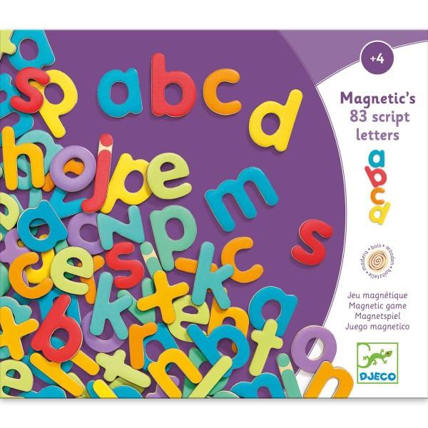 Holz Magnete: 83 Kleinbuchstaben
