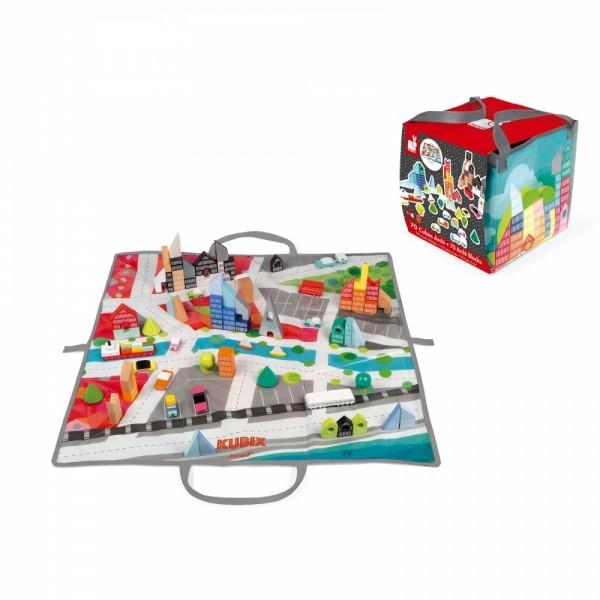 Kubix - 70 Bausteine mit Spieltasche