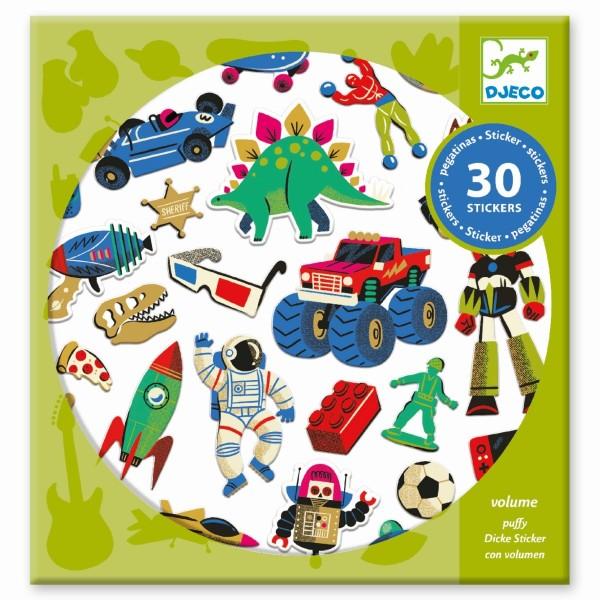 Sticker Retro toys