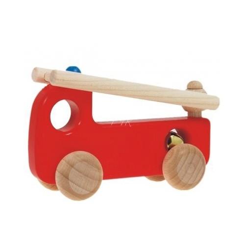 Feuerwehrauto farbig aus Holz