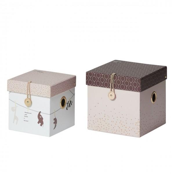 Aufbewahrung Boxen-Set rosa