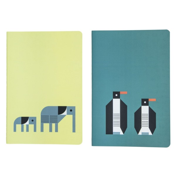 Notizhefte Plentimals Elefant&Pinguin