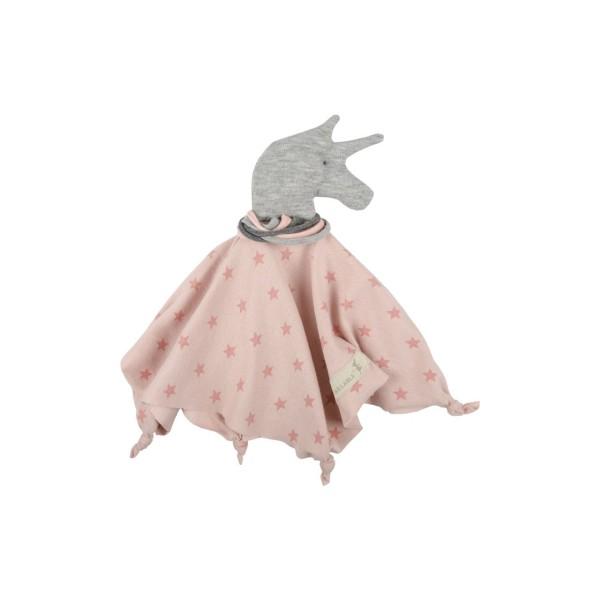 Jersey Schmusetuch Einhorn Taita grau