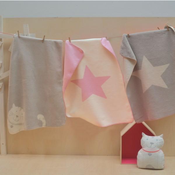 Babydecke Niki Stern rosa