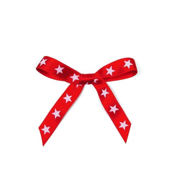 Schleifenband Sterne rot