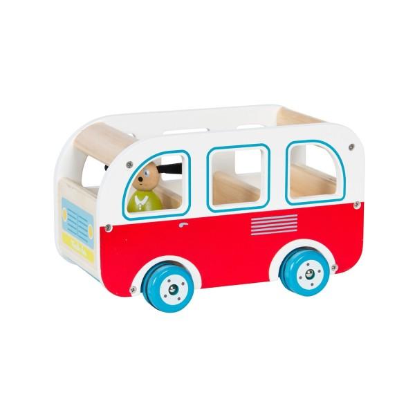 Bus mit Spielfigur