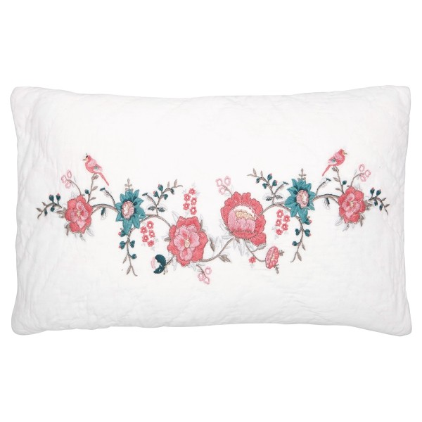GREENGATE Kissenbezug Sienna white mit Stickerei 30 x 50