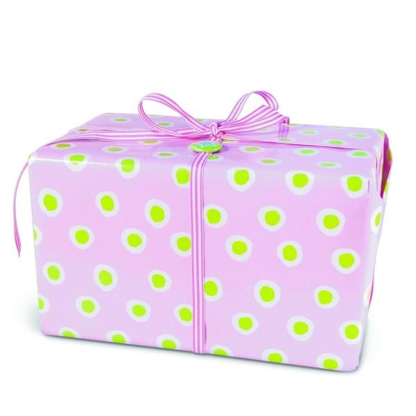 Geschenkpapier Tupfer Rosa XL