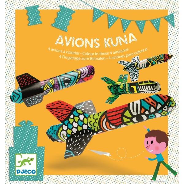 Geburtstagsspiel Kuna Plane Djeco Bastelpackungen Djeco