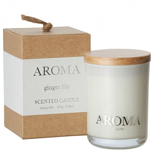 Aroma Duftkerze ginger lily M