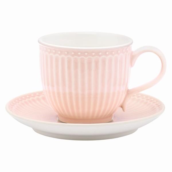 Tasse mit Unterteller Alice pale pink