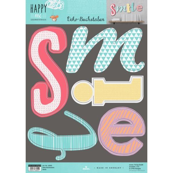 Happy me Deko-Buchstaben Smile