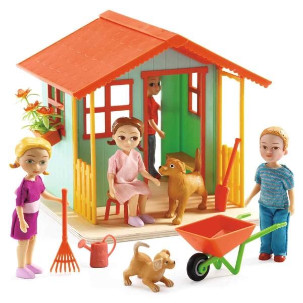 Puppenhaus: Gartenhäuschen