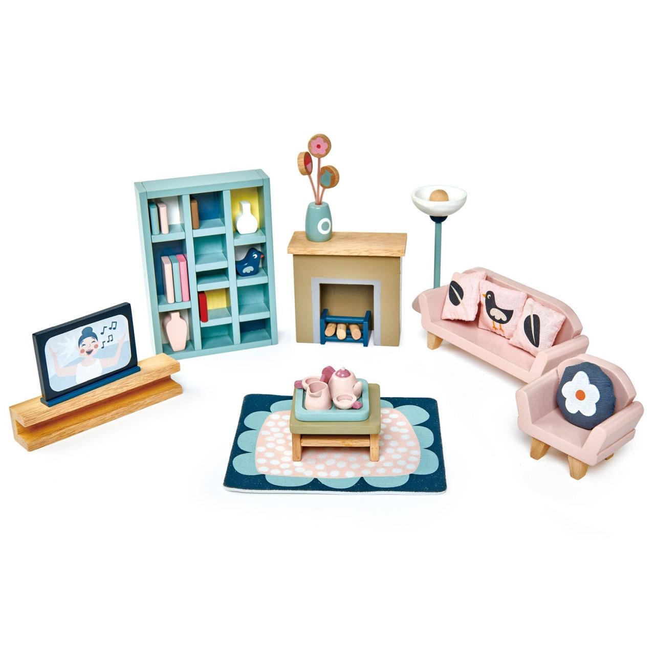 Puppenhaus Wohnzimmer Set