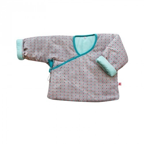 Petit Pan Babyjacke silber/türkis