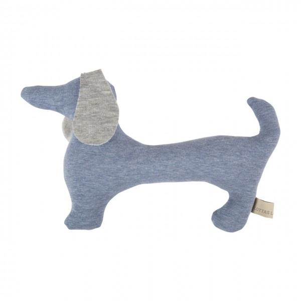 Rassel Hund blau
