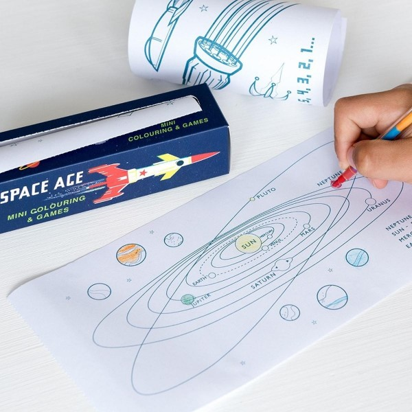 Mini - Mal- & Spielrolle Space Age