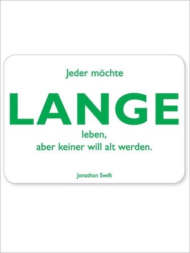 Postkarte Lange, matt weiß, quer, Swift