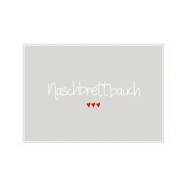 Postkarte quer Naschbrettbauch
