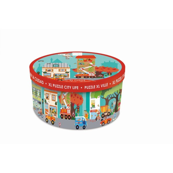 Boden Puzzle Stadt 100 Teile