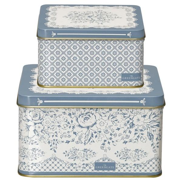 Metall Boxen Jenny Dusty Blue Set 2