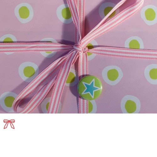 Schleifenband gestreift rosa
