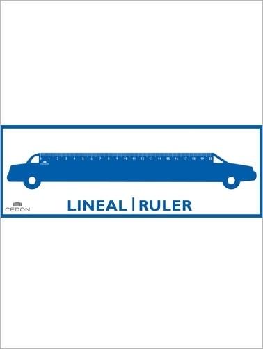 CEDON Lineal Auto, Arcyl, blau