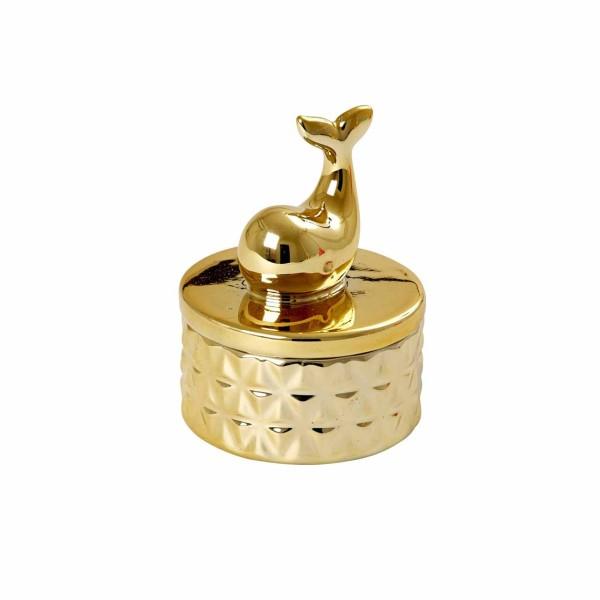Mini Porzellan Schmuckkästchen gold