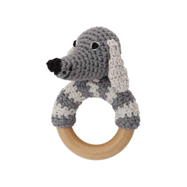 Rassel Hund grau