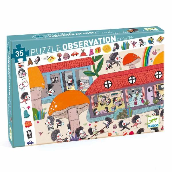 Puzzle Wimmelbild: Die Igelschule 35-teilig