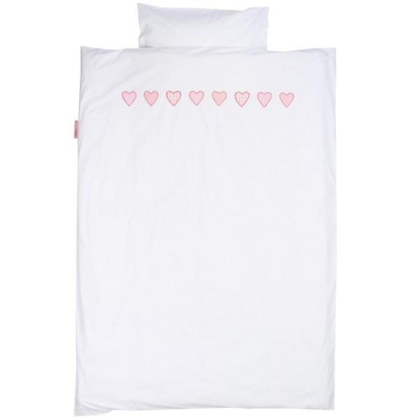 Bettwäsche Hearts Check rosa
