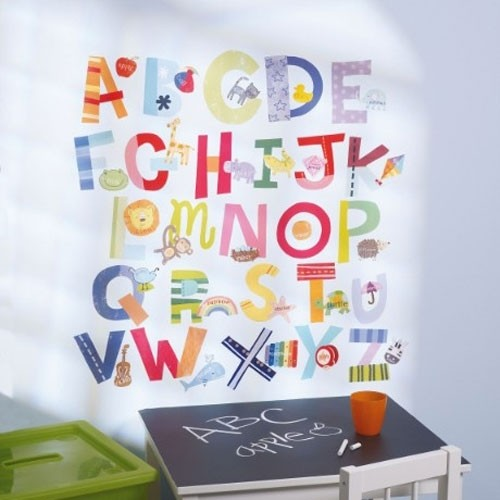 Wandsticker Fun Alphabet
