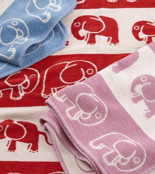 Babydecke Little Elephant rosa