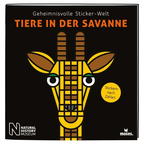 Sticker-Welt: Tiere in der Savanne