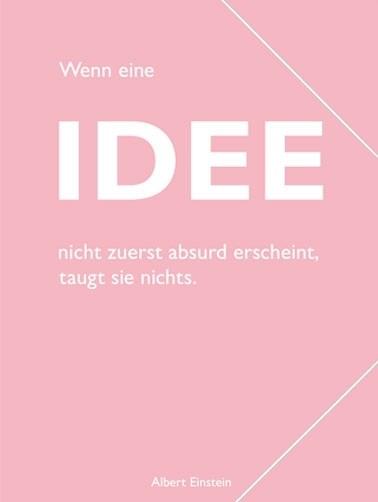 """Sammelmappe, pastell rosé, Einstein """"Idee"""""""