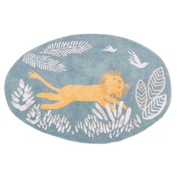 Baumwollteppich Löwe