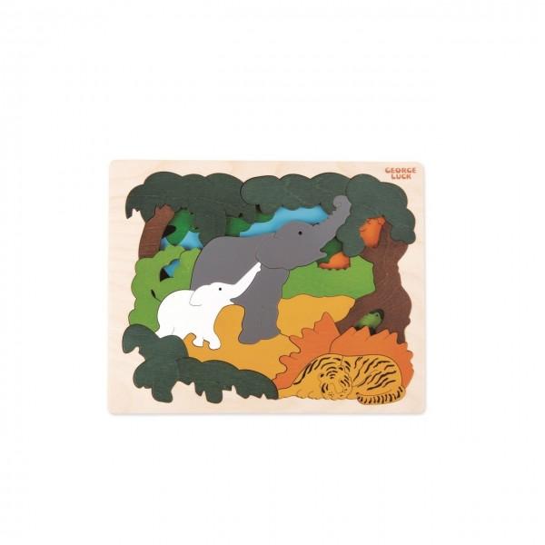 Puzzle Asiatische Tiere