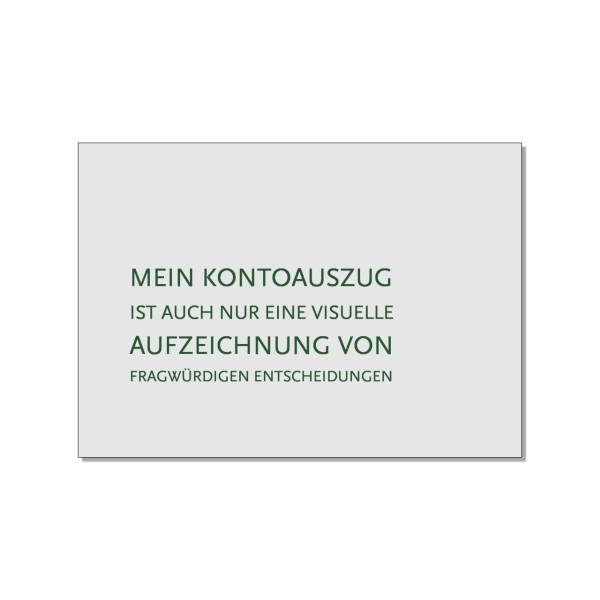Postkarte quer, Mein Kontoauszug